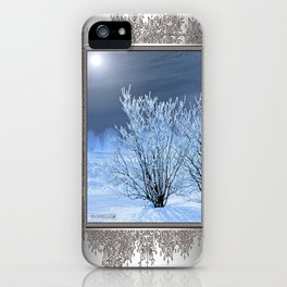 Hoar Frost on the Lilac Bush iPhone Case