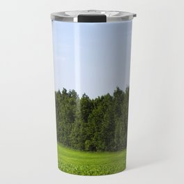 hilly area on an agricultural field Travel Mug