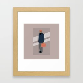 Trilby and Briefcase Framed Art Print