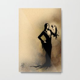 Morticia, Beauty in Decay Metal Print