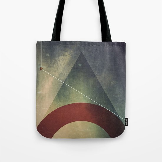 triangle half circle Tote Bag