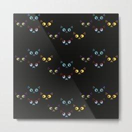 Cat Pattern Metal Print