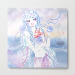 Mermaid at dusk Metal Print