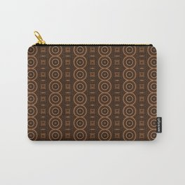 Circle, Square and Line Pattern Caramel Carry-All Pouch