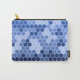 Honeycomb Blue Pattern | Geometric Shapes | Home Decor | Sapphire | For Him | For Her Carry-All Pouch