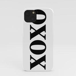 Black XOXO iPhone Case