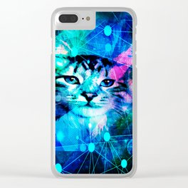 Kitty Cat Laser Lights at the Aleurorave Clear iPhone Case