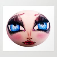 The Face of Pearlia Diamanté Art Print