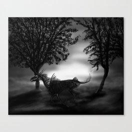 Undead unicorn Canvas Print