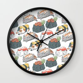 Sushi Cats Wall Clock