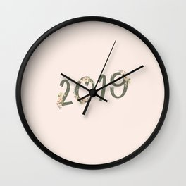 Year in Bloom Wall Clock