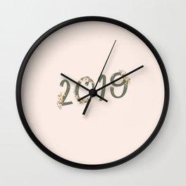 Year in Bloom Wall Clock