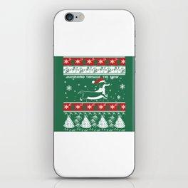 DACHSHUND THROUGH THE SNOW iPhone Skin