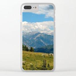 panorama cloudy alps serfaus fiss ladis tyrol austria europe Clear iPhone Case