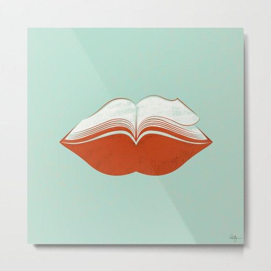 Read My Lips Metal Print
