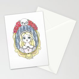 Death to fill her eyes Stationery Cards