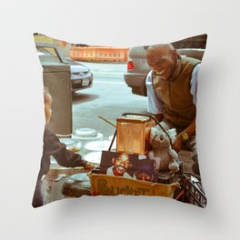 Compassion in the City Throw Pillow