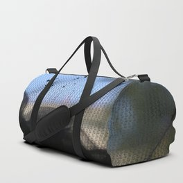 grey net blue sky folds Duffle Bag