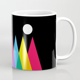 Full Moon on Colorful Forest Coffee Mug