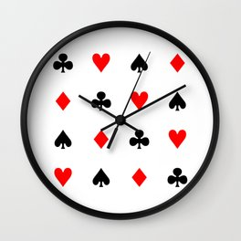 Playing cards pattern Wall Clock