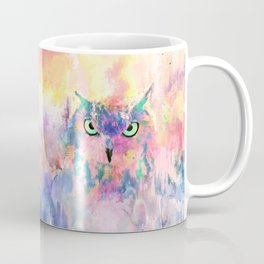 Watercolor eagle owl abstract paint Coffee Mug