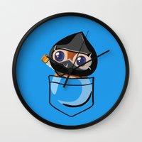 warcraft Wall Clocks featuring Ninja Pepe! by SlothgirlArt