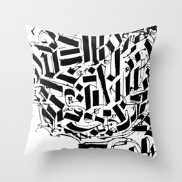 CALLIGRAPHY N°2 ZV Throw Pillow