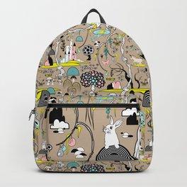 Magical Garden (Beige) Backpack