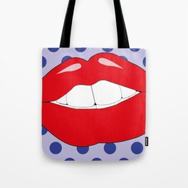 Lip Pop Art Tote Bag