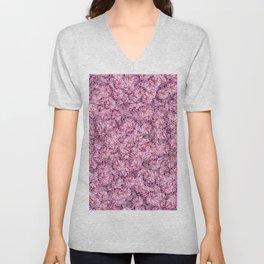 Pink Dahlia Floral Pattern Unisex V-Neck