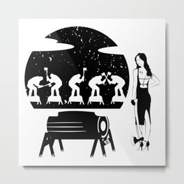 WOODCHOPPING WOMAN Metal Print