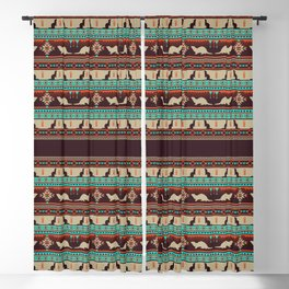 Boho Animals | Ferret sunset Blackout Curtain