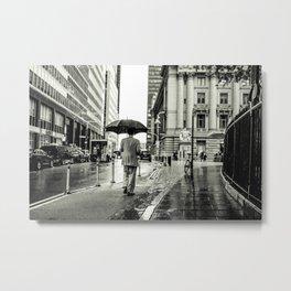 Wet Pavement NYC Metal Print