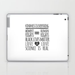Kindness Is Everything Black Lives Love Is Love Laptop & iPad Skin