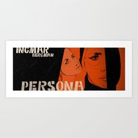 persona Art Prints featuring persona by Le Butthead