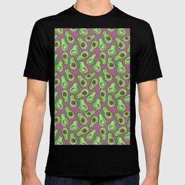 avocados in purple T-shirt