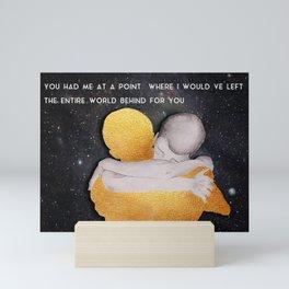 Gold heart Mini Art Print