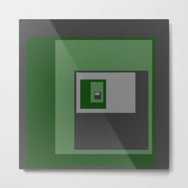 Green Squares Metal Print