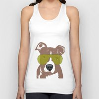 pit bull Tank Tops featuring American Pit Bull Terrier by ialbert