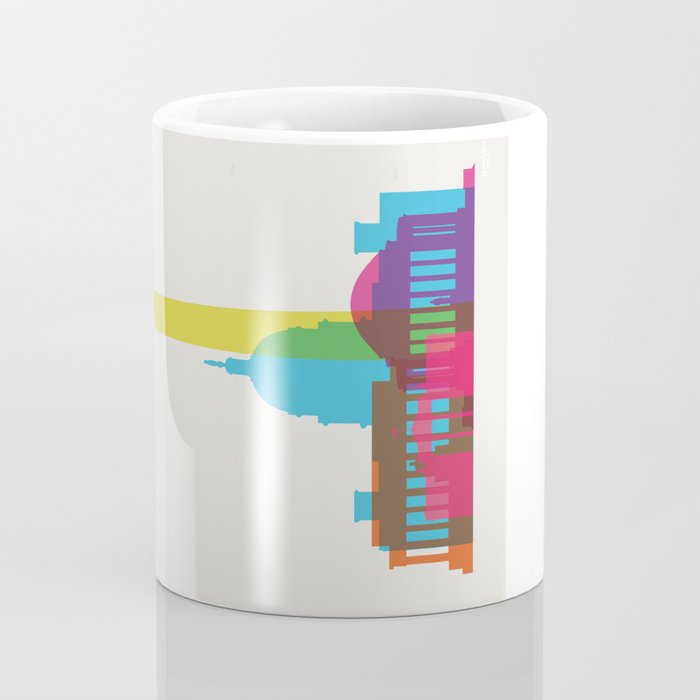 Shapes of Washington D.C. Accurate to scale Coffee Mug