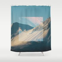 square Shower Curtains featuring Square by Chelle Wootten