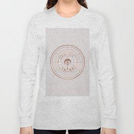 Rosè Moon Mandala Long Sleeve T-shirt