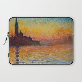 San Giorgio Maggiore by Twilight by Claude Monet Laptop Sleeve