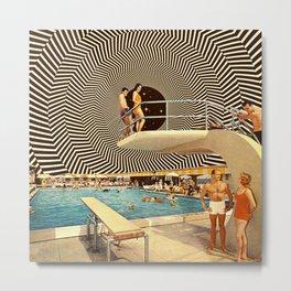 Illusionary Pool Party Metal Print