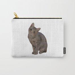 Geometric Kitten Carry-All Pouch