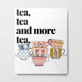 Tea Cups Metal Print