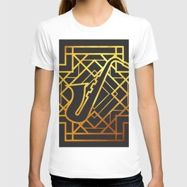 Art Deco Saxofon T-shirt