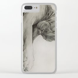 Pencil drawing kitten sphinx, graphic art Clear iPhone Case