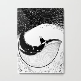 Here goes the Black Whale Metal Print