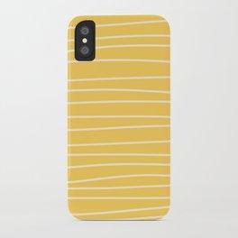 Sunshine Brush Lines iPhone Case